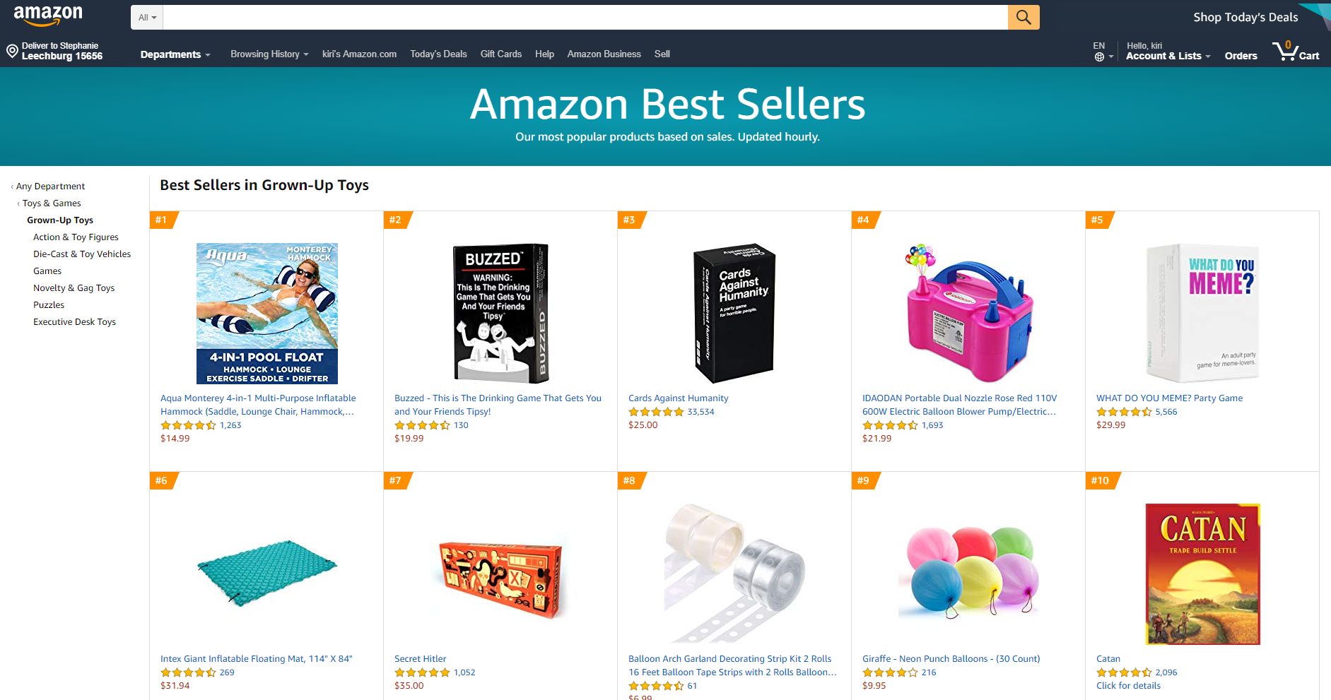 Amazon Toys and Games
