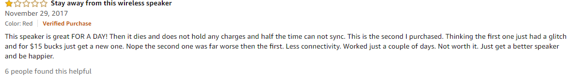 Bad review during holiday example