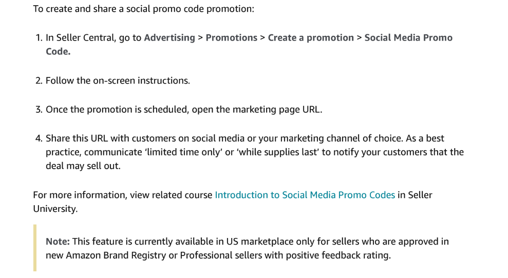 Creating a Social Promo Code Promotion