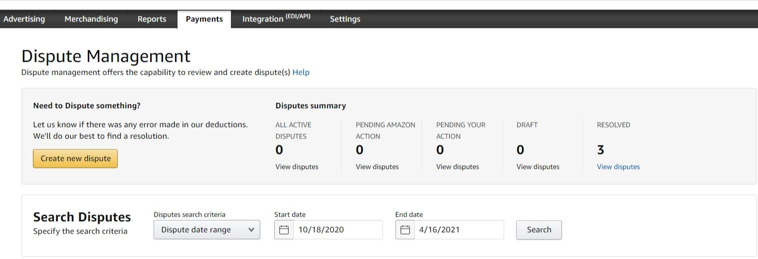 Dispute Management Dashboard