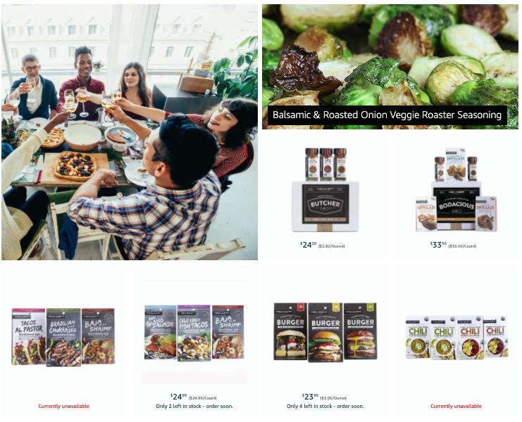 Example of Amazon Brand Store content