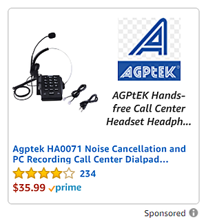 Example of Sponsored Display ad with ecommerce creative and a custom headline