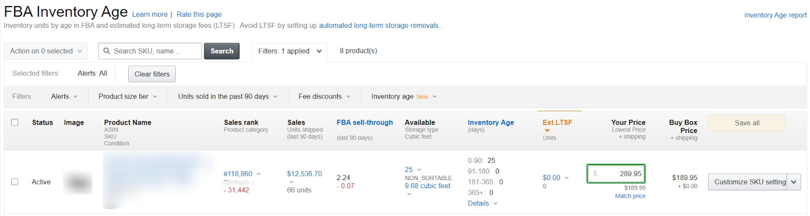 Inventory Age Dashboard