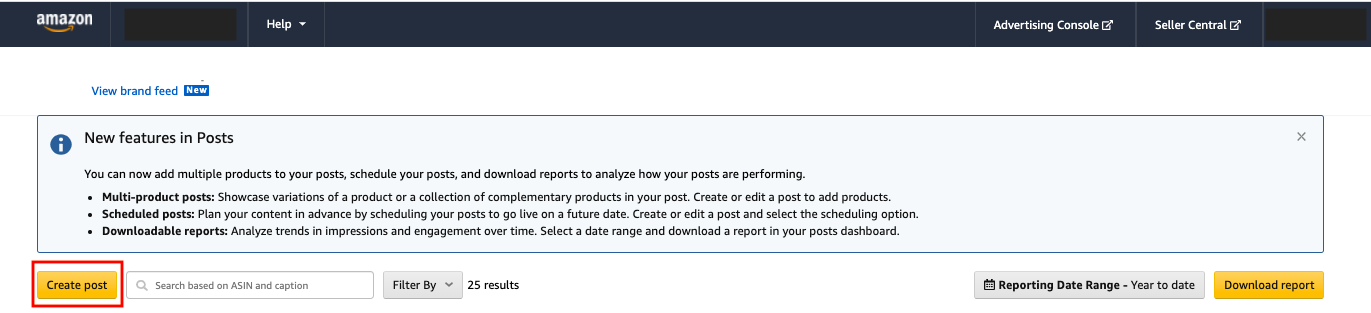 Step 2 Access Posts Dashboard & Create a Post