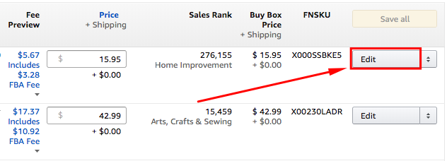 "To add or update backend keywords, click on the ""Edit"" button on the 'Manage Inventory' tab in your Seller Central account."