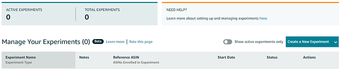 manage your experiments