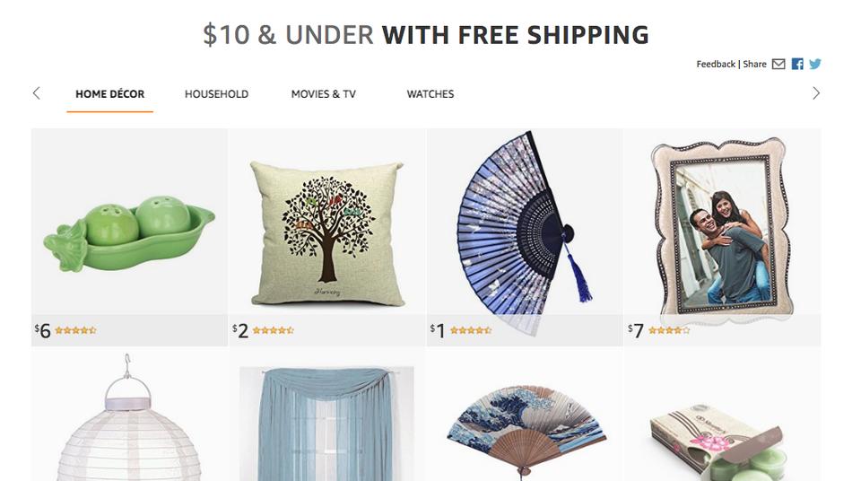 Amazon's 10$ and under