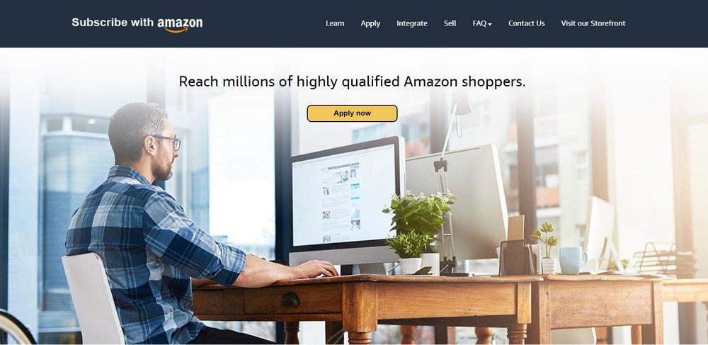 Homepage subscribewithamazon.com