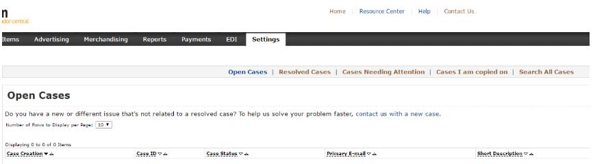open cases