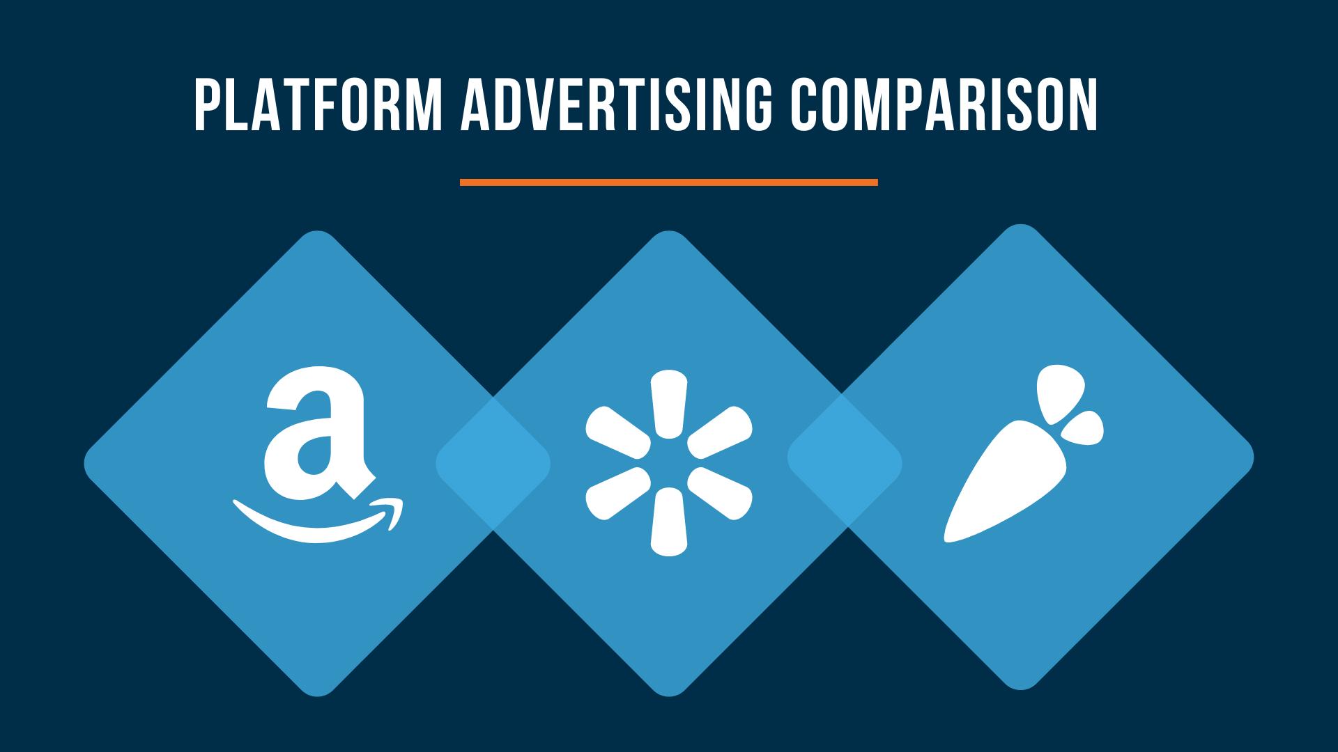 Amazon, Walmart & Instacart - Platform Advertising Comparison